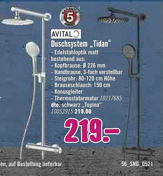 Hornbach Avital Duschsystem Tidan