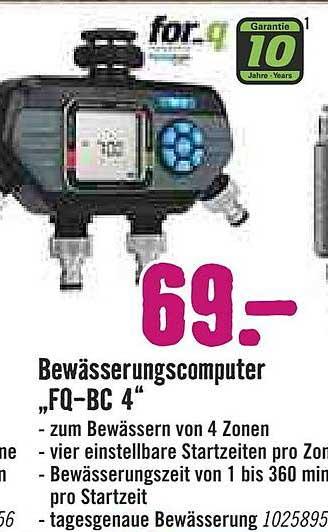 """Hornbach Bewässerungscomputer """"fq-bc 4"""""""