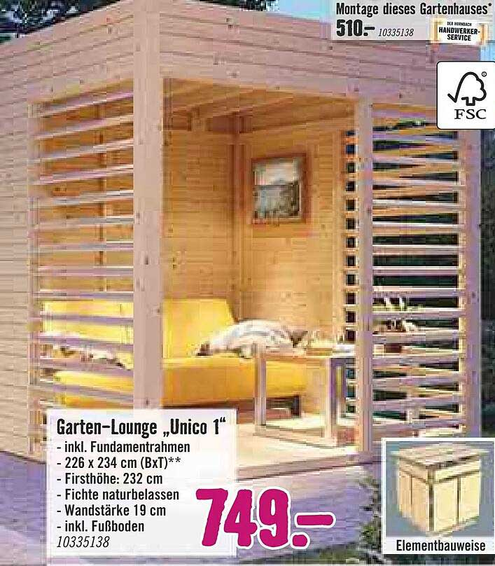 "Hornbach Garten-lounge ""unico 1"""