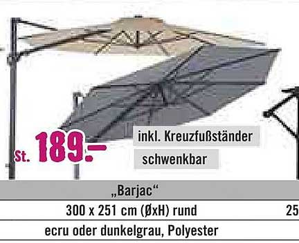 "Hornbach Soluna Ampelschirm ""barjac"""
