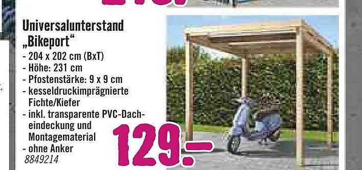 "Hornbach Universalunterstand ""bikeport"""