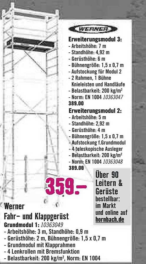 Hornbach Werner Fahr Und Klappgerüst