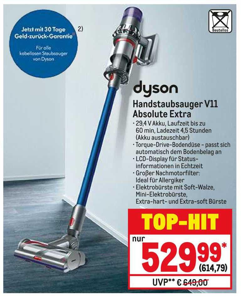 METRO Dyson Hanstaubsauger V11 Absolute Extra