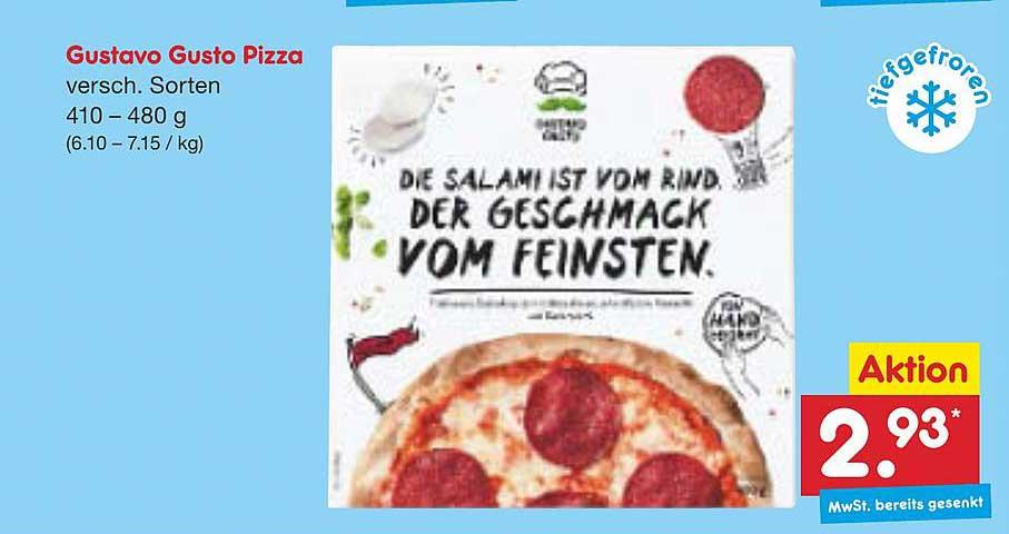 Netto Marken-Discount Gustavo Gusto Pizza