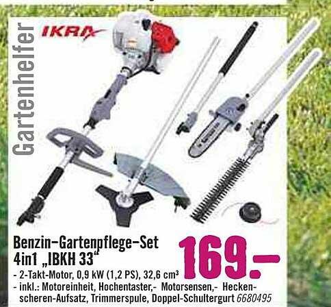 "Hornbach Ikra Benzin-gartenpflege-set 4in1 ""ibkh 33"""