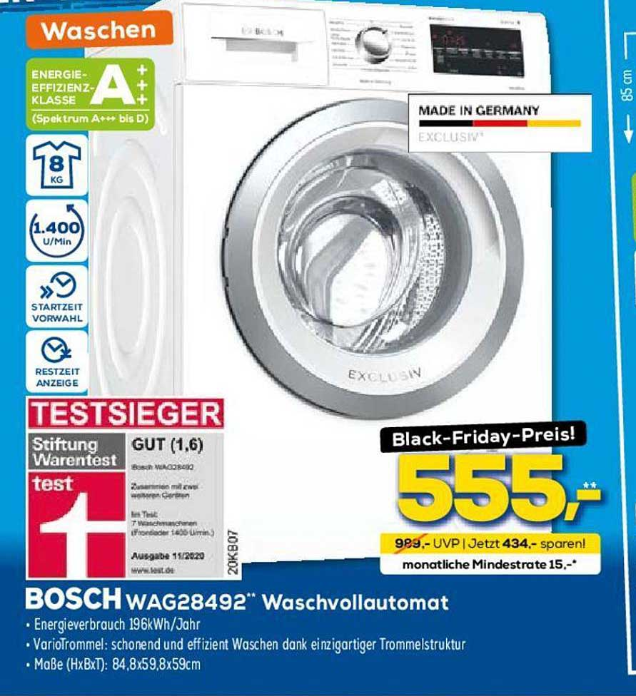 Euronics Bosch WAG28492 Waschvollautomat