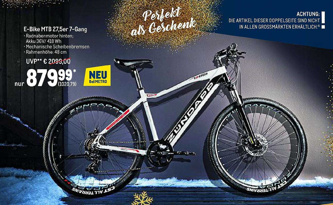 METRO Zündapp E-bike Mtb 27.5er 7-gang