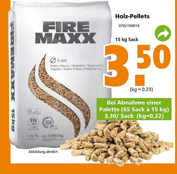 Globus Baumarkt Fire Maxx Holz-pellets