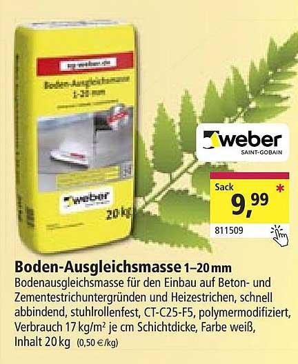 Holz Possling Weber Boden-ausgleichsmasse 1-20 Mm