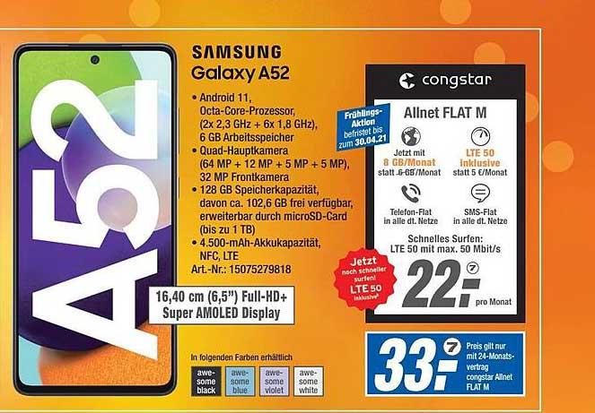 Expert Technomarkt Samsung Galaxy A52