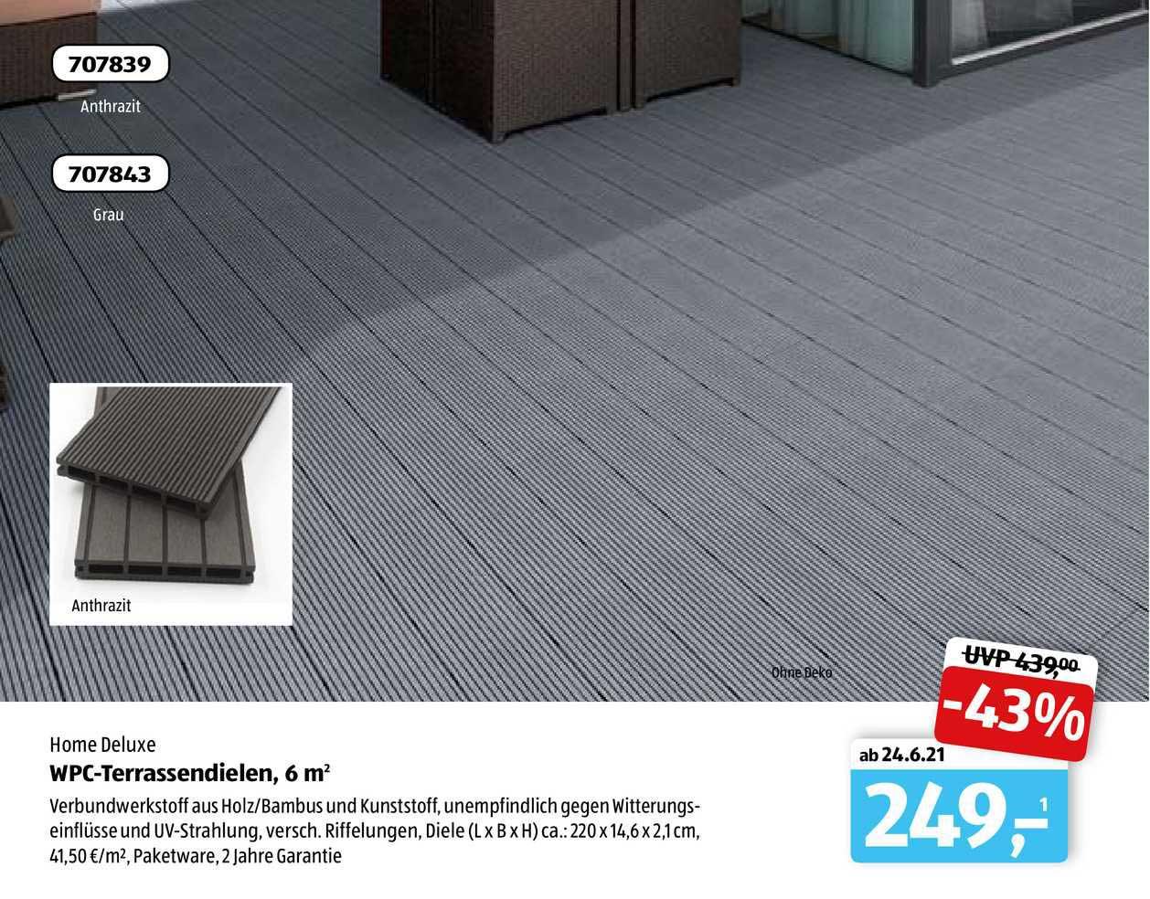 Wpc terrassendielen 200 M20 Home Deluxe Angebot bei ALDI sud