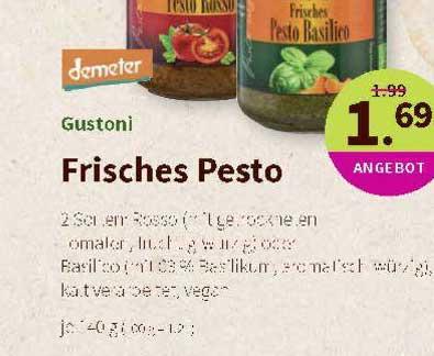 Denns Biomarkt Gustoni Frisches Pesto