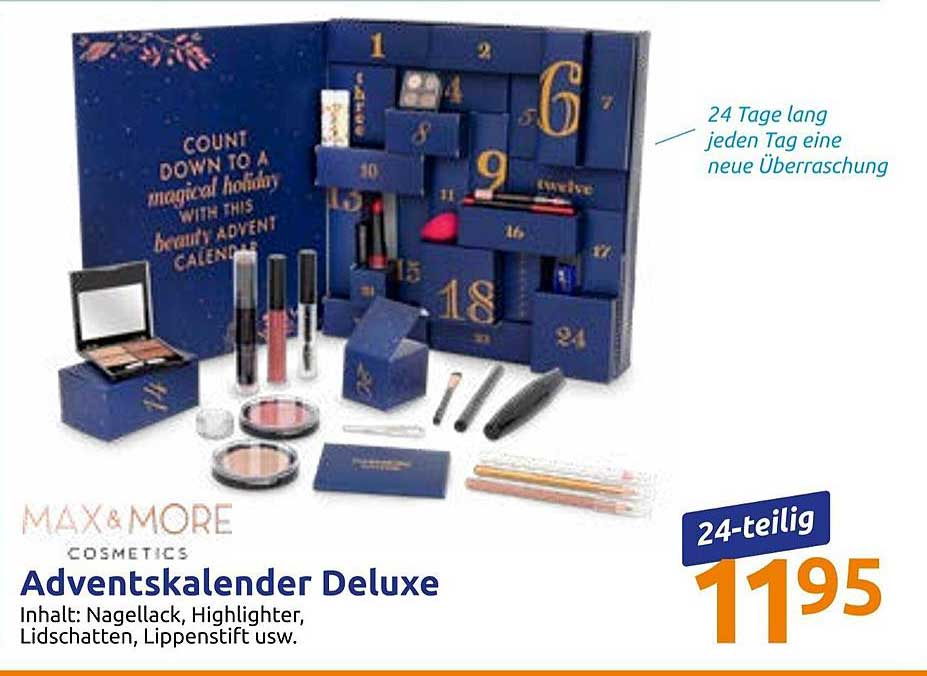 Action Max&more Cosmetics Adventskalender Deluxe