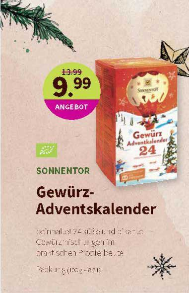 Denns Biomarkt Sonnentor Gewürz Adventskalender