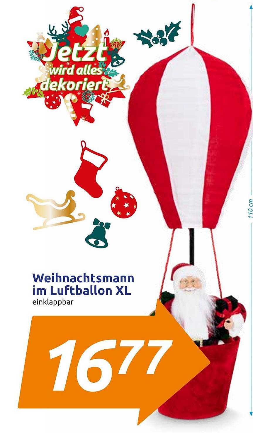 Action Weihnachtsmann Im Luftballon Xl