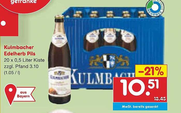 Netto Marken-Discount Kulmbacher Edelherb Pils