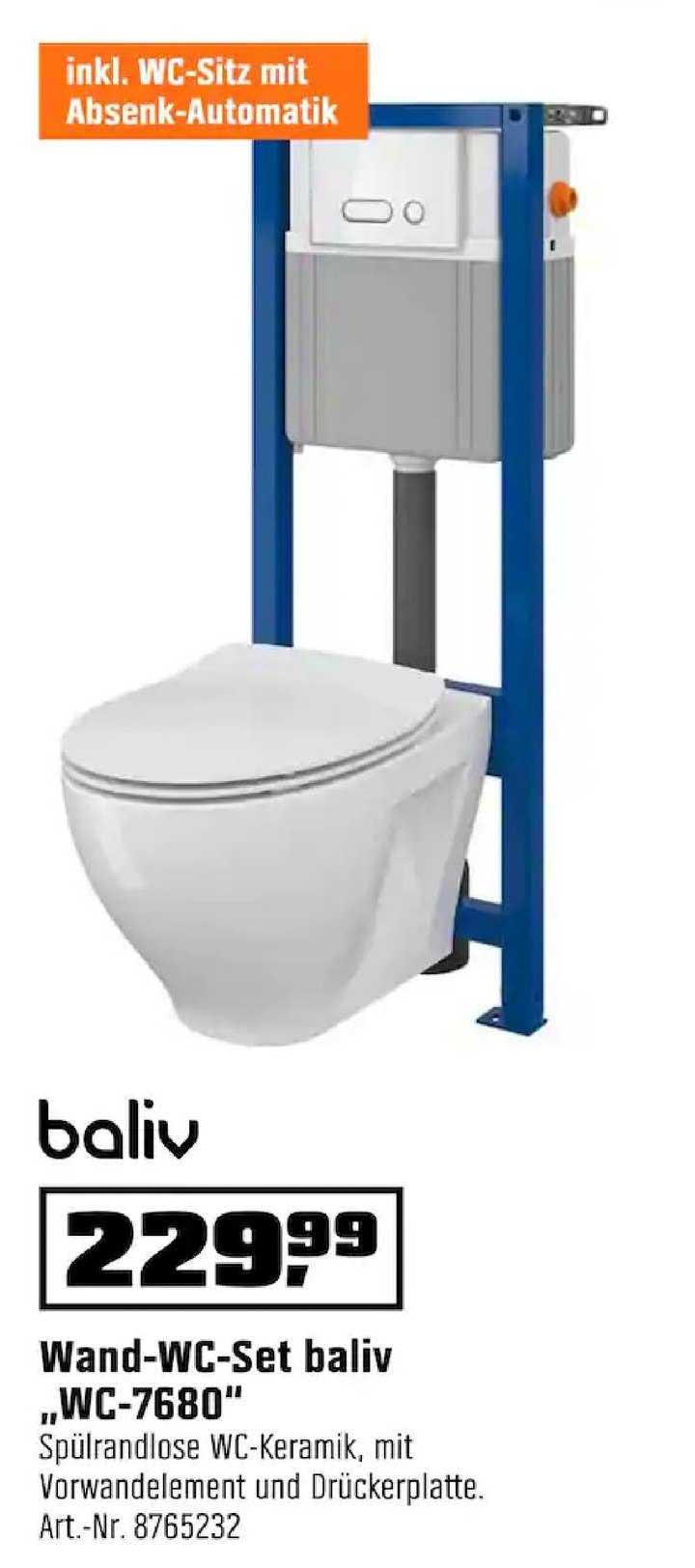 OBI Wand-wc-set Baliv Wc-7680