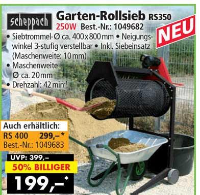 Norma24 Scheppach Garten-rollsieb Rs350