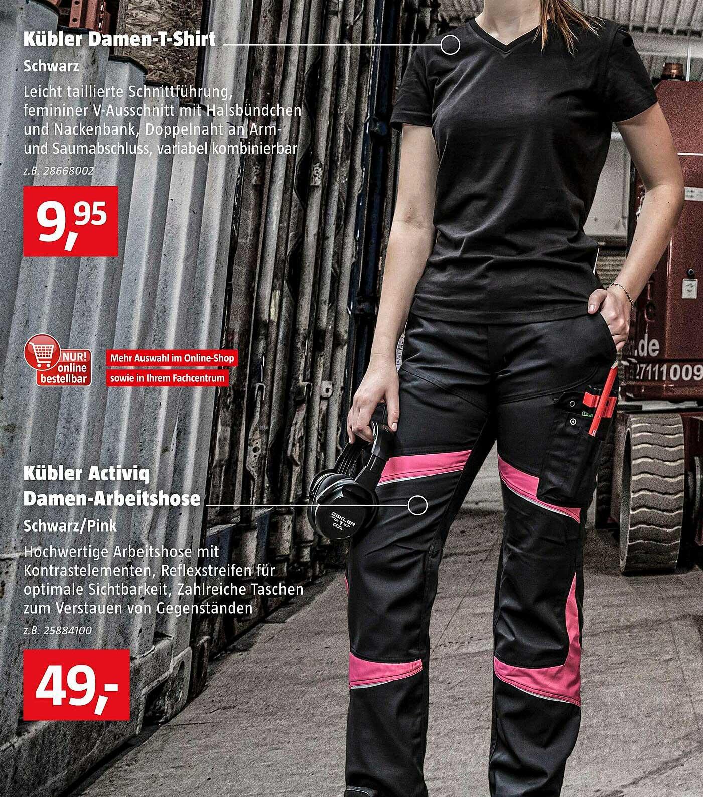Bauhaus Kübler Activic Damen-arbeitshose Schwarz Pink