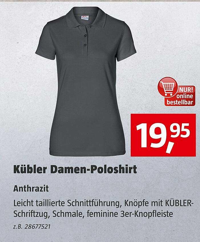 Bauhaus Kübler Damen-poloshirt