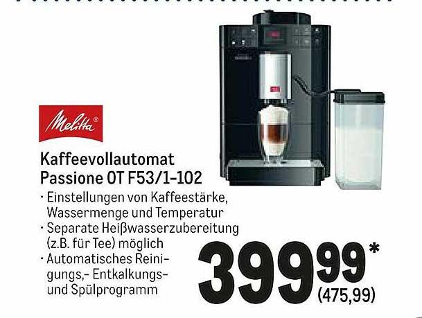 METRO Melitta Kaffeevollautomat Passione 0t F53 1-102