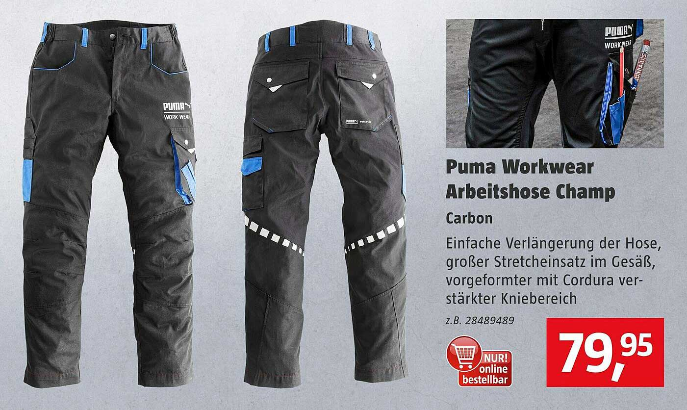 Bauhaus Puma Workwear Arbeitshose Champ Carbon