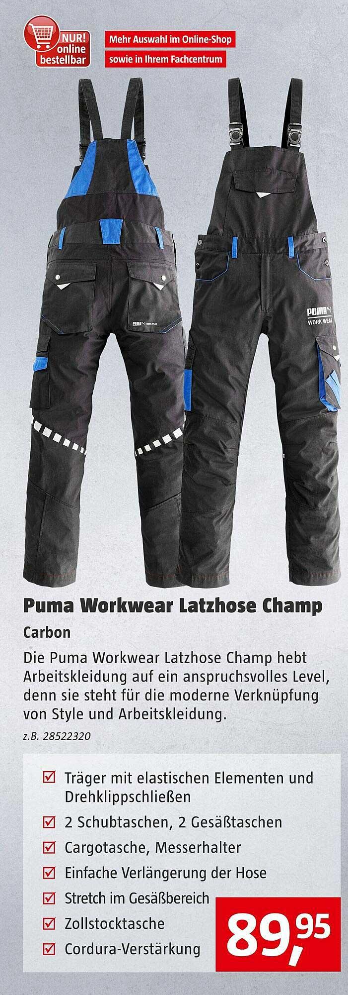 Bauhaus Puma Workwear Latzhose Champ