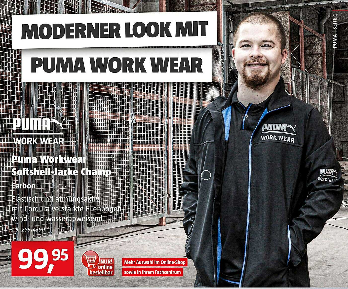 Bauhaus Puma Workwear Softshell-jacke Champ Puma