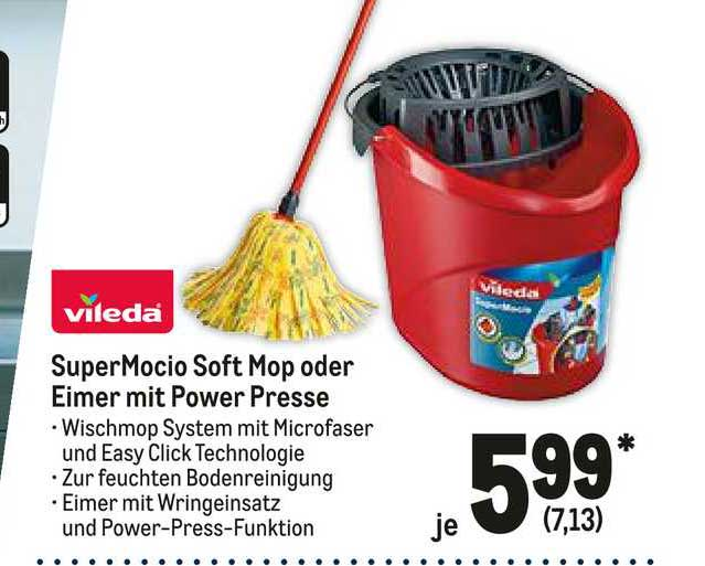 METRO Supermocio Soft Mop Oder Eimer Mit Power Presse Vileda