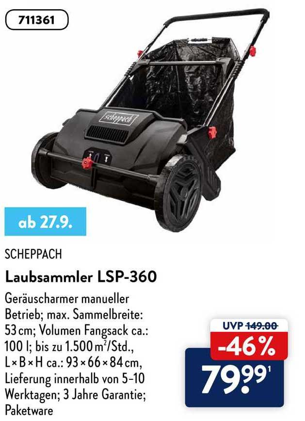 ALDI Nord Scheppach Laubsammler Lsp-360
