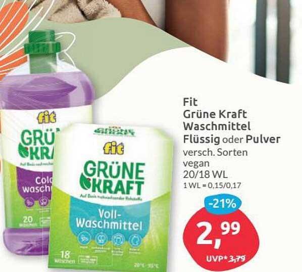 Budni Fit Grüne Kraft Waschmittel Flüssig Oder Pulver