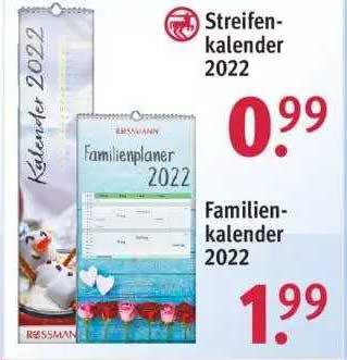 ROSSMANN Streifen Kalender 2022