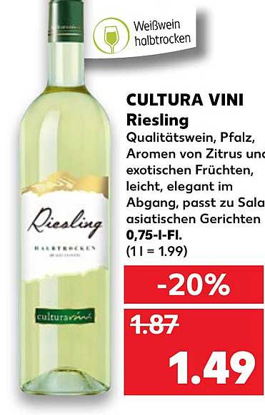 Kaufland Cultura Vini Riesling