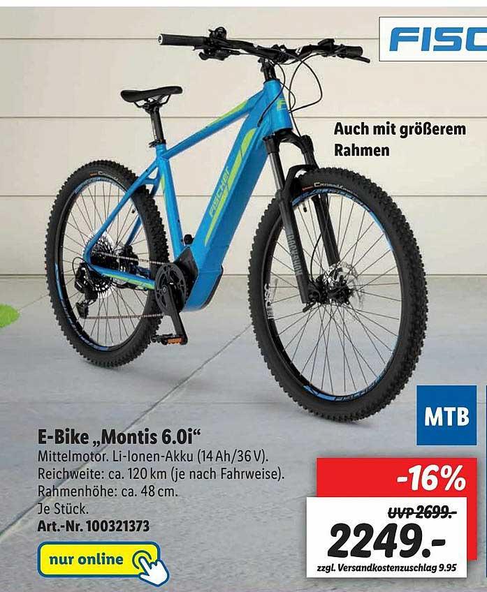 "Lidl Fischer E-bike ""montis 6.0i"""