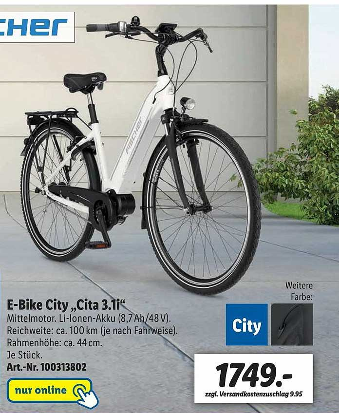 "Lidl Fischer E-bike City ""cita 3.1i"""