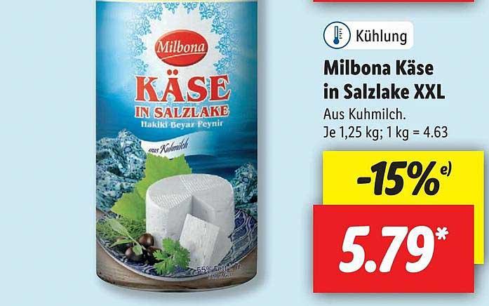 Lidl Milbona Käse In Salzlake XXL