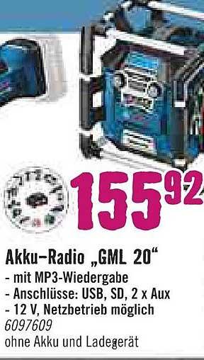 """Hornbach Akku Radio """"gml 20"""""""
