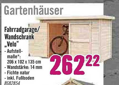 "Hornbach Fahrradgarage Oder Wandschrank ""velo"""