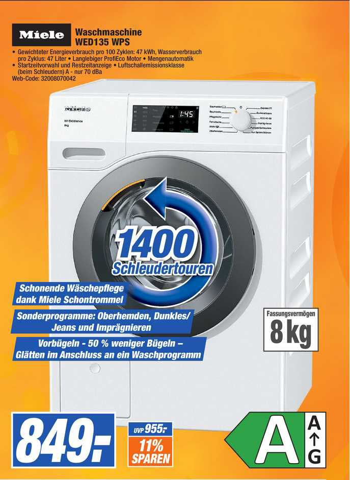 Expert Octomedia Miele Waschmaschine WED 135 WPS