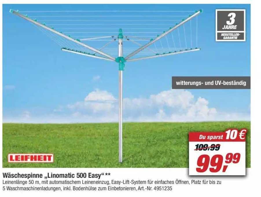 """Toom Baumarkt Leifheit Wäschespinne """"linomtic 500 Easy"""""""