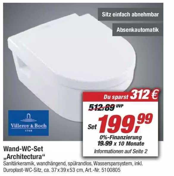 """Toom Baumarkt Wand-wc-set """"architectura"""""""