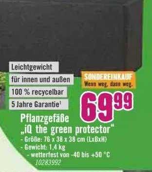 Hornbach Pflanzgefäße IQ The Green Protector