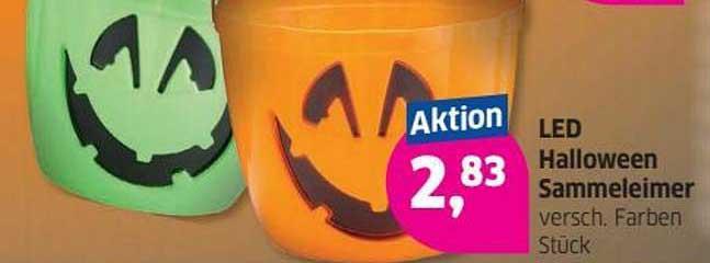 Budni Led Halloween Sammeleimer