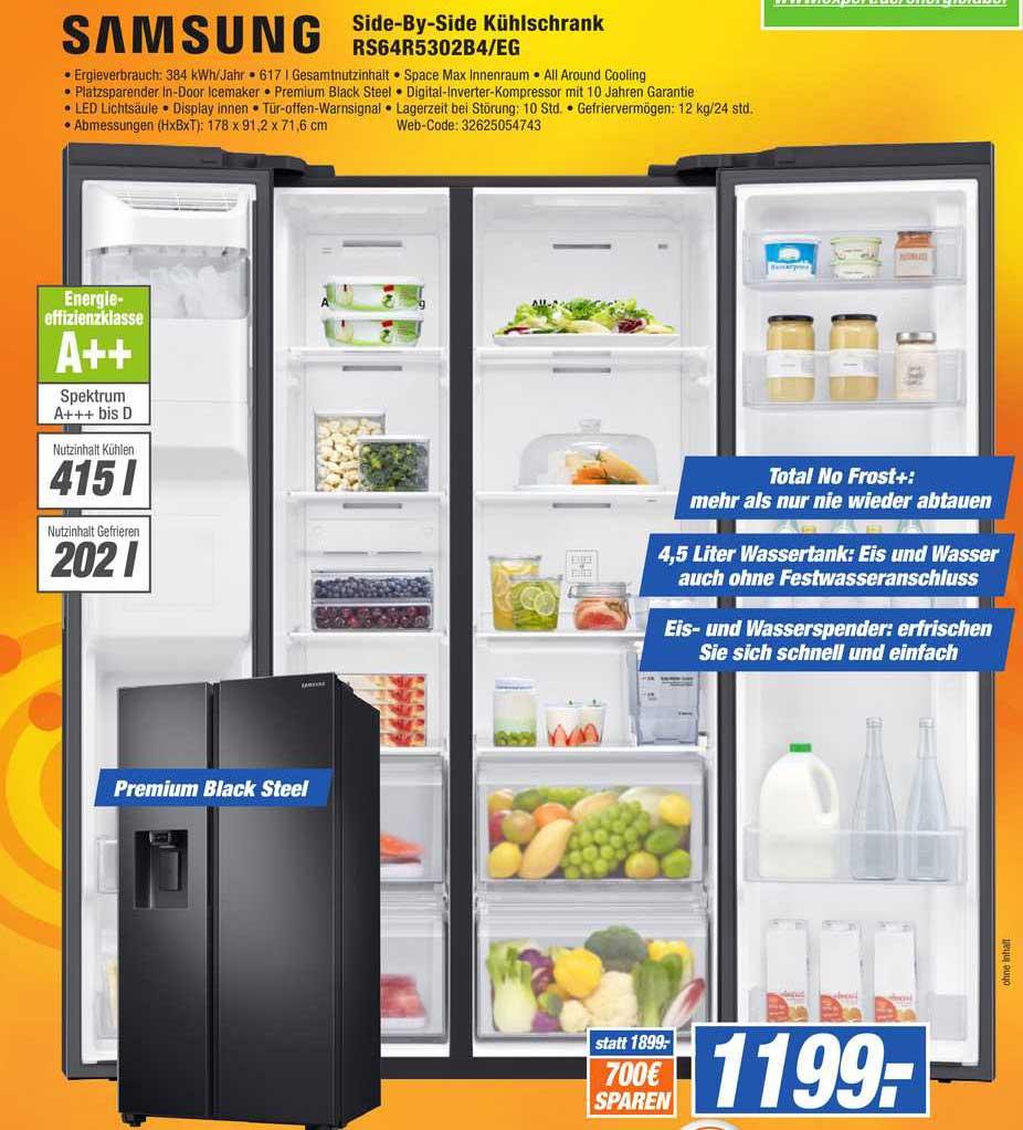 HEM Expert Samsung Side-by-side Kühlschrank Rs64r5302b4-eg