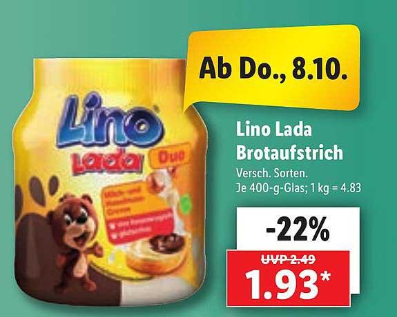 Lidl Lino Lada Brotaufstrich