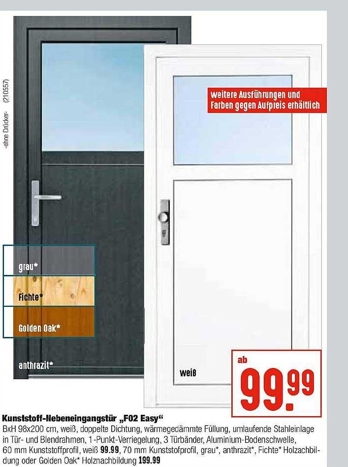 """Hellweg Kunststoff Nebeneingangstür """"f02 Easy"""""""