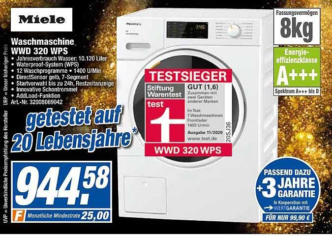 Expert Techno Land Miele Waschmaschine Wwd320wps