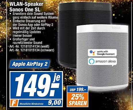Expert Techno Land Wlan-speaker Sonos One Sl