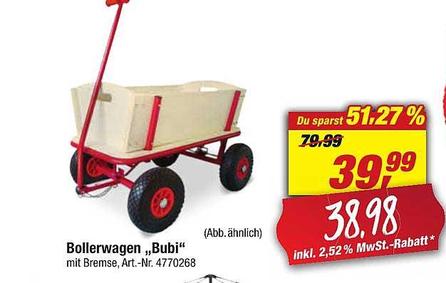 """Toom Baumarkt Bollerwagen """"bubi"""""""