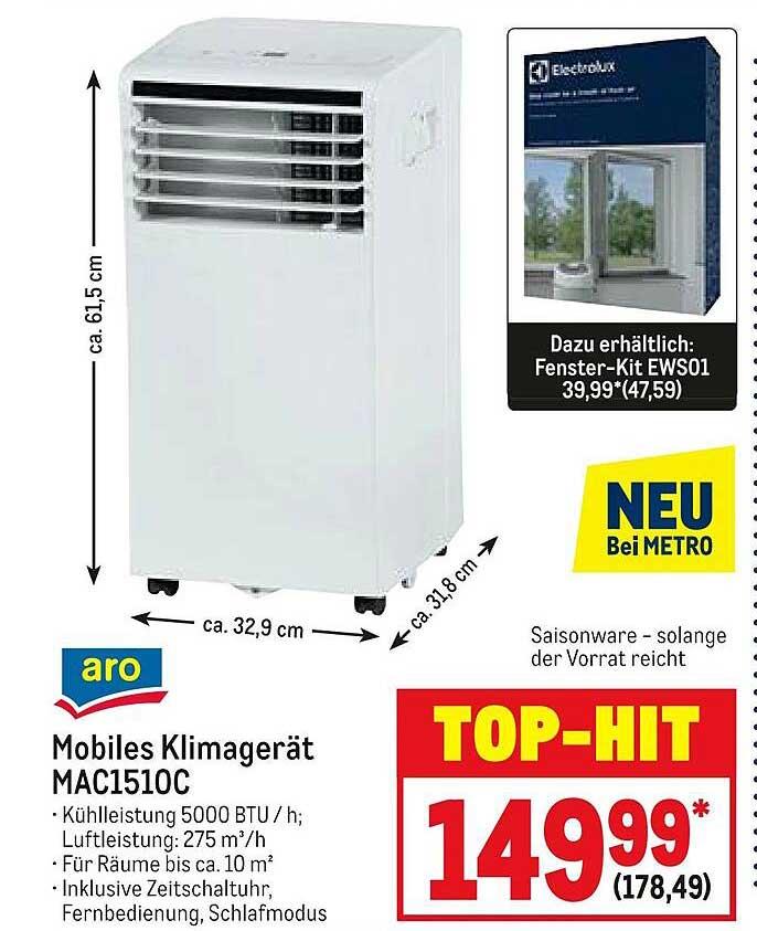 METRO Aro Mobiles Klimagerät Mac1510c